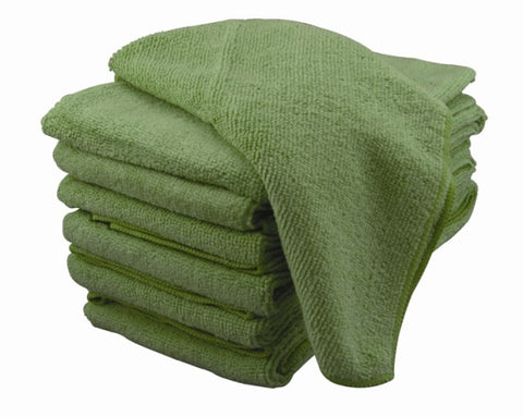 Microfiber Cloth 25 pack (GREEN)