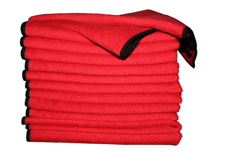 Microfiber Cloth 25 pack (RED)