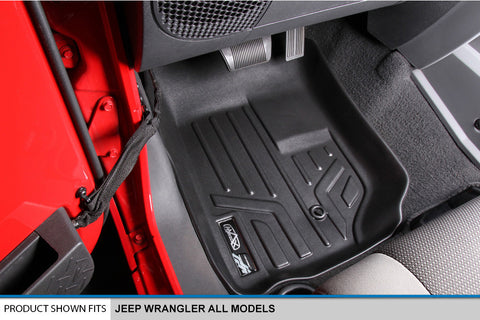 Jeep Wrangler - Maxliner 3D Digital-Fit Floor Liners
