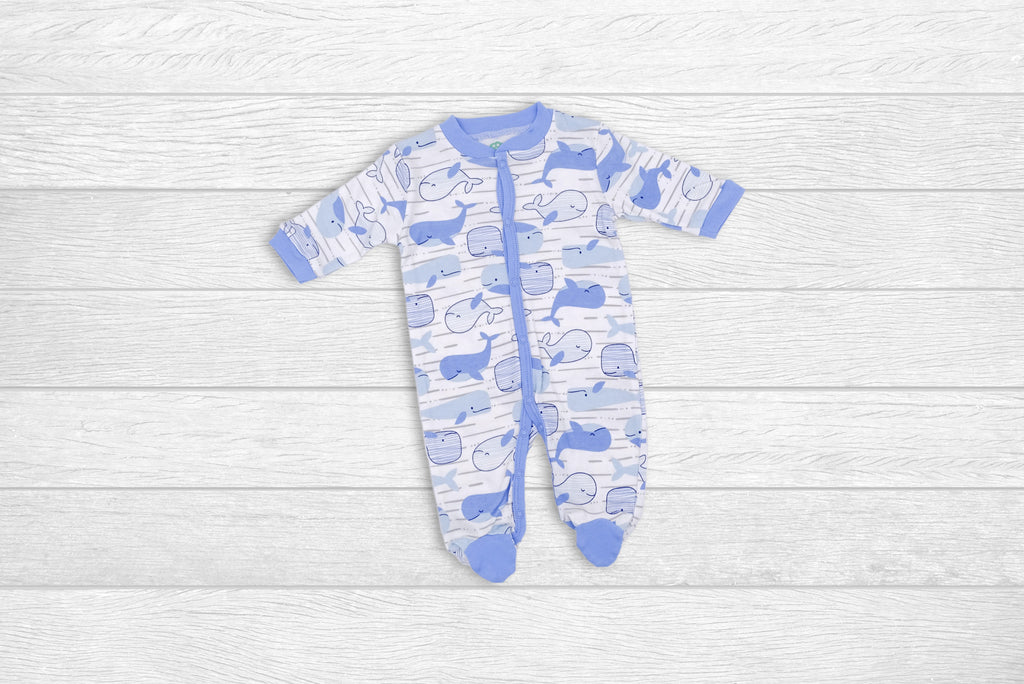 Babygrow with Little Whales