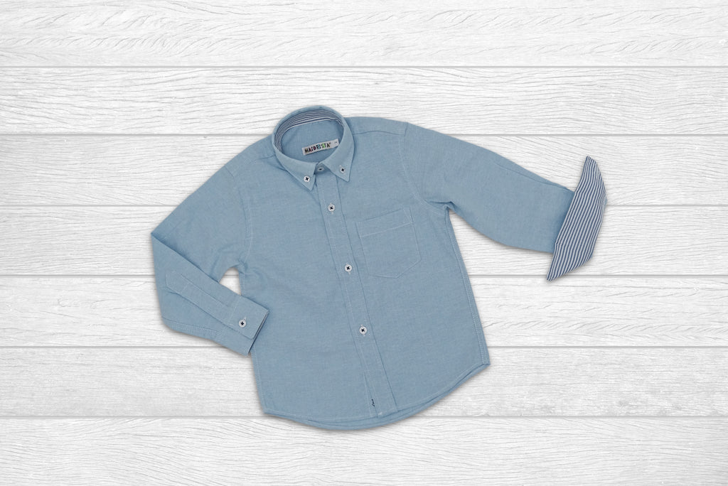 Blue Oxford Style Shirt