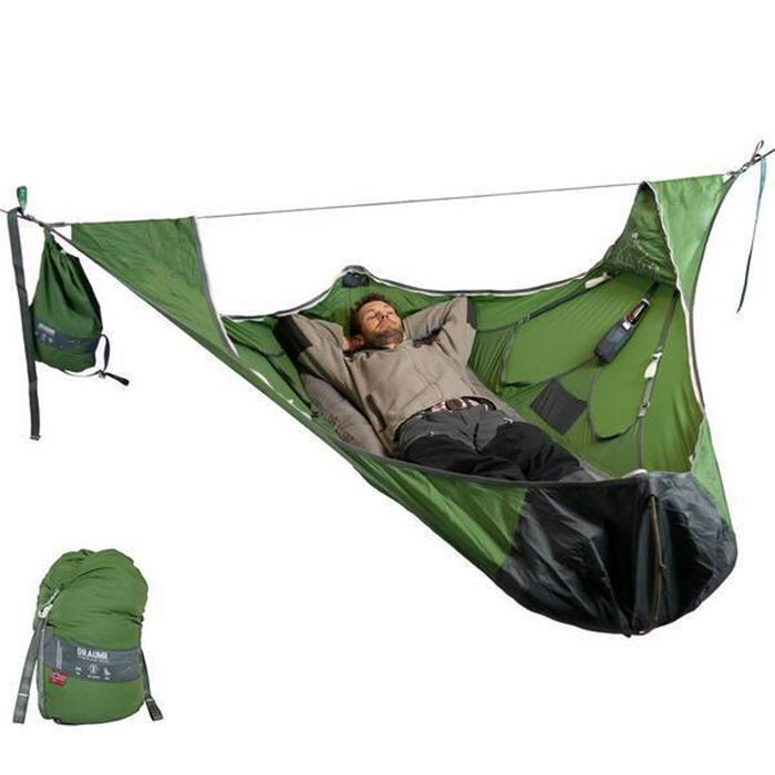 Flat Sleep Hammock Tent With Bug Net And Suspension Kit