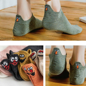 Hot Sale  Embroidered Cartoon Women Socks