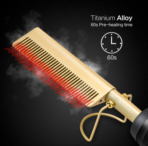 Hair Straightener and Curler Comb