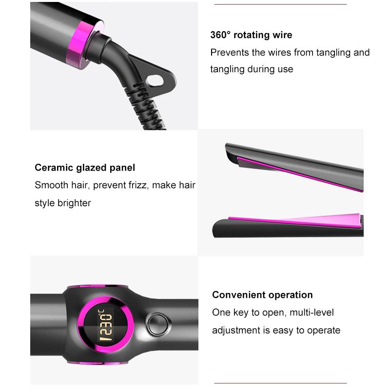 Professional 2 in 1 Hair Curler & Hair Straightener