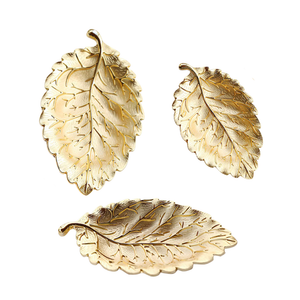 Metal Leaf Plate Decoration