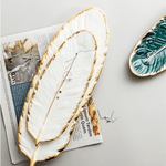 Modern Feather Ceramic Tray