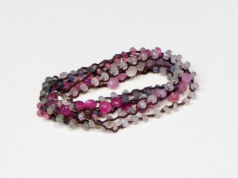 One Love Wrap Multi-colored Onion Cut Sapphires