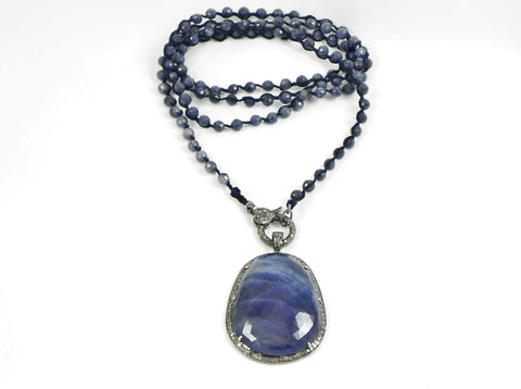 One Love Wrap with Sapphire Pendant