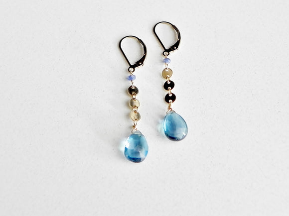 Marabella Blue Topaz Earrings
