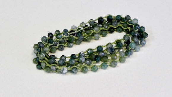 One Love Wrap Moss Agate.