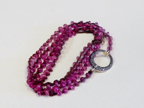 One Love Wrap Pink Sapphire and Diamonds