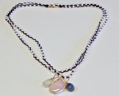 One Love Wrap/ Pearl and Multi-Pendant