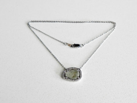 White Sliced Diamond Pendant