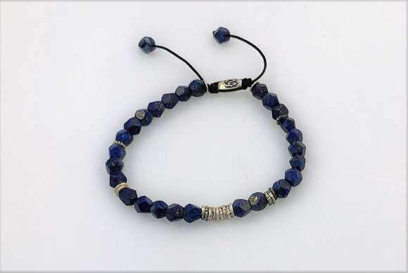 faceted lapis and silver