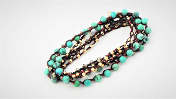 One Love Wrap Turquoise and Pyrite