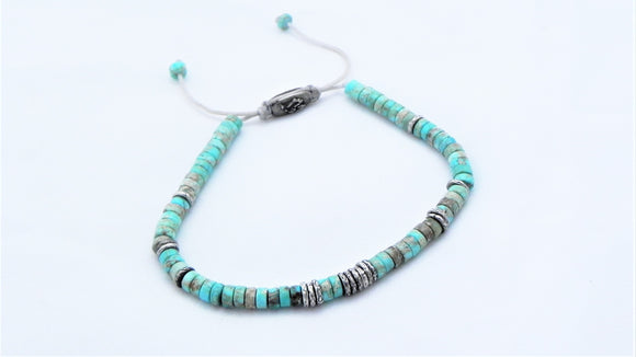 Silver Linings Bracelet-Turquoise