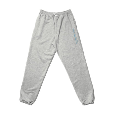 Sweatpants. - Blue Text