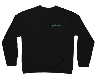 Pullover. - Blue Text