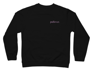 Pullover. - Pink Text