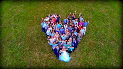 drone wedding picture