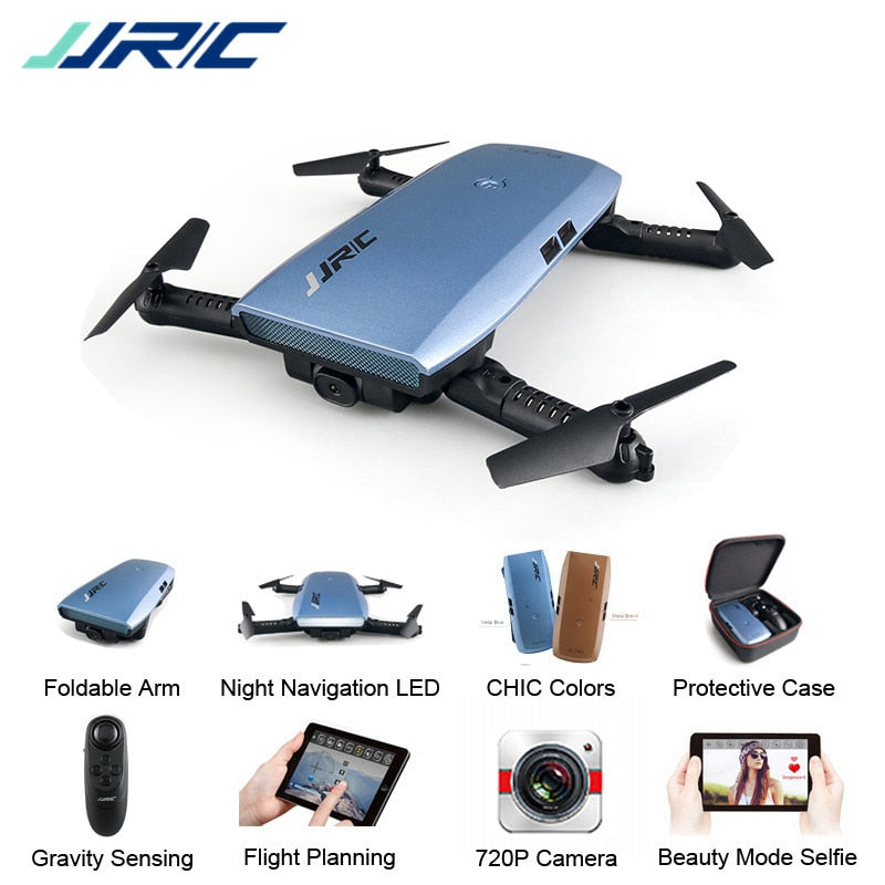 JJRC H47 ELFIE Plus FPV with HD Camera 6-Axis - G-sensor Control Foldable  Drone