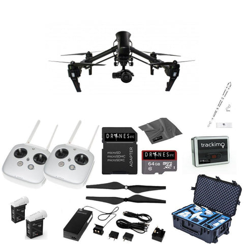 CARBON FIBER DJI Inspire 1 Pro with Dual Remotes EVERYTHING YOU NEED Kit