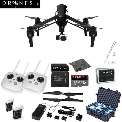 CARBON FIBER DJI Inspire 1 V2.0 with Dual Remotes EVERYTHING YOU NEED Kit