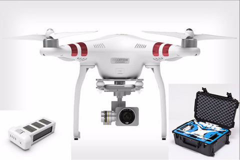 DJI Phantom 3 Standard with Extra Battery and Hardcase