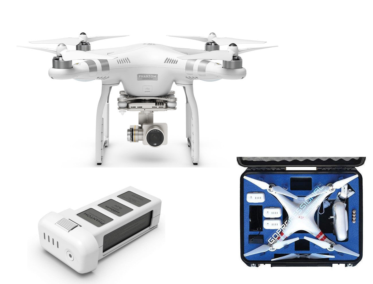 Dji phantom 3 advanced bundle exclusive by drones etc
