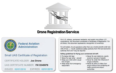 Drone Registration + Certificate Card Bundle (For Hobbyist Only)