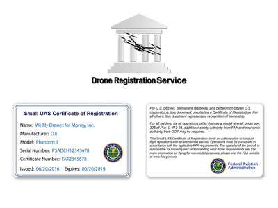 Drone Registration + Certificate Card Bundle (For Commercial Pilots)