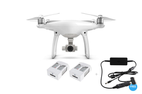 Phantom 4 + Two Extra Batteries + Car Charger