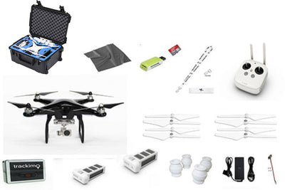 CUSTOM DJI Carbon Fiber (custom paint) Phantom 3 Professional EVERYTHING YOU NEED KIT