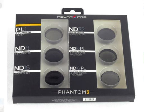 DJI Phantom 4 / Phantom 3 Filter Professional 6-Pack-PolarPro