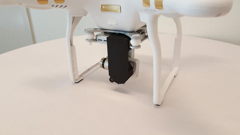 3D Printed Phantom 3 Gimbal Lock and Lens Cover for the P3 Professional & Advanced