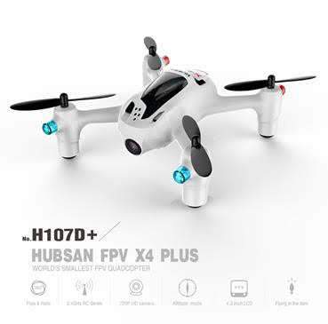 HICH107D+ - Hubsan 2nd Generation X4 FPV Quad, 2.4GHZ + 5.8 GHz Video Transmission