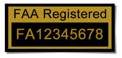 FAA Drone Registration Label (For Hobbyist only)- outdoor rated w/ lifetime guarantee