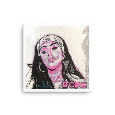 Aaliyah Dope Canvas