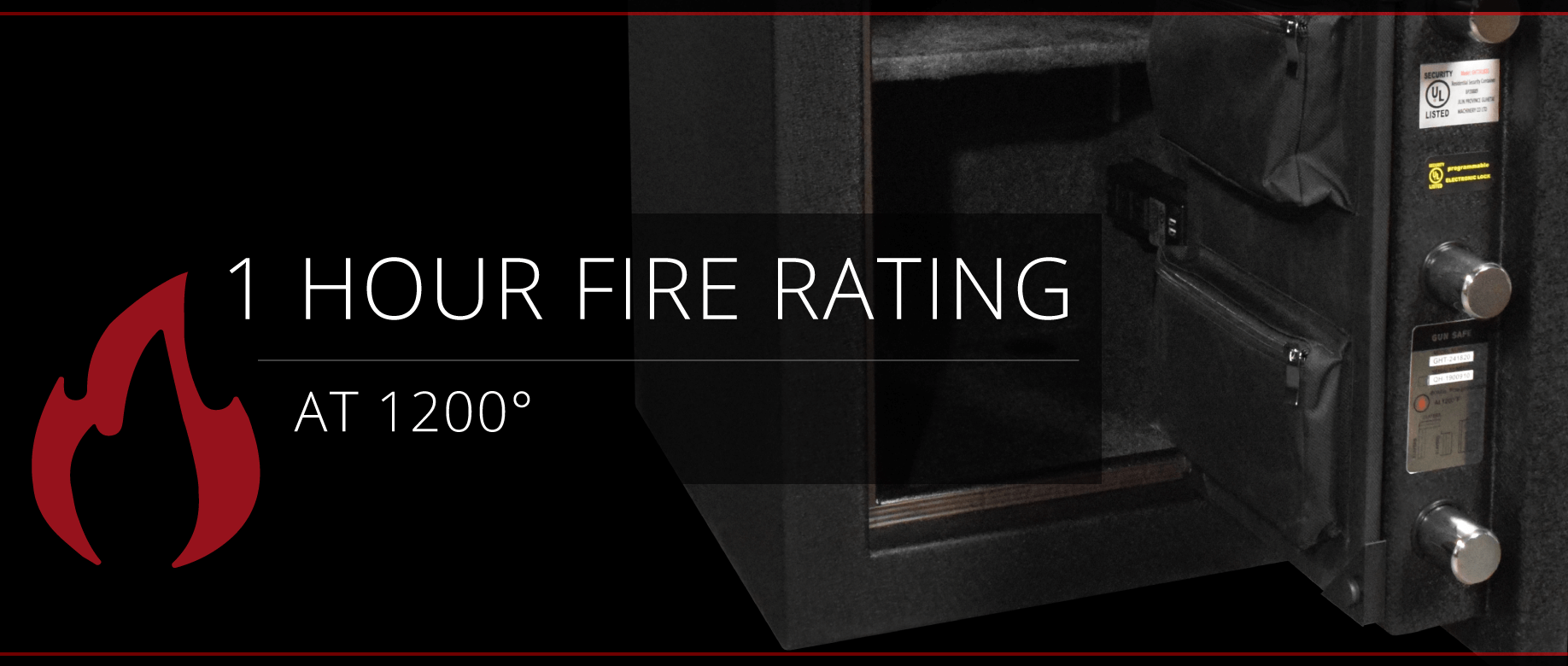 Stealth HS4 UL Home Safe 1 Hour Fire Rating