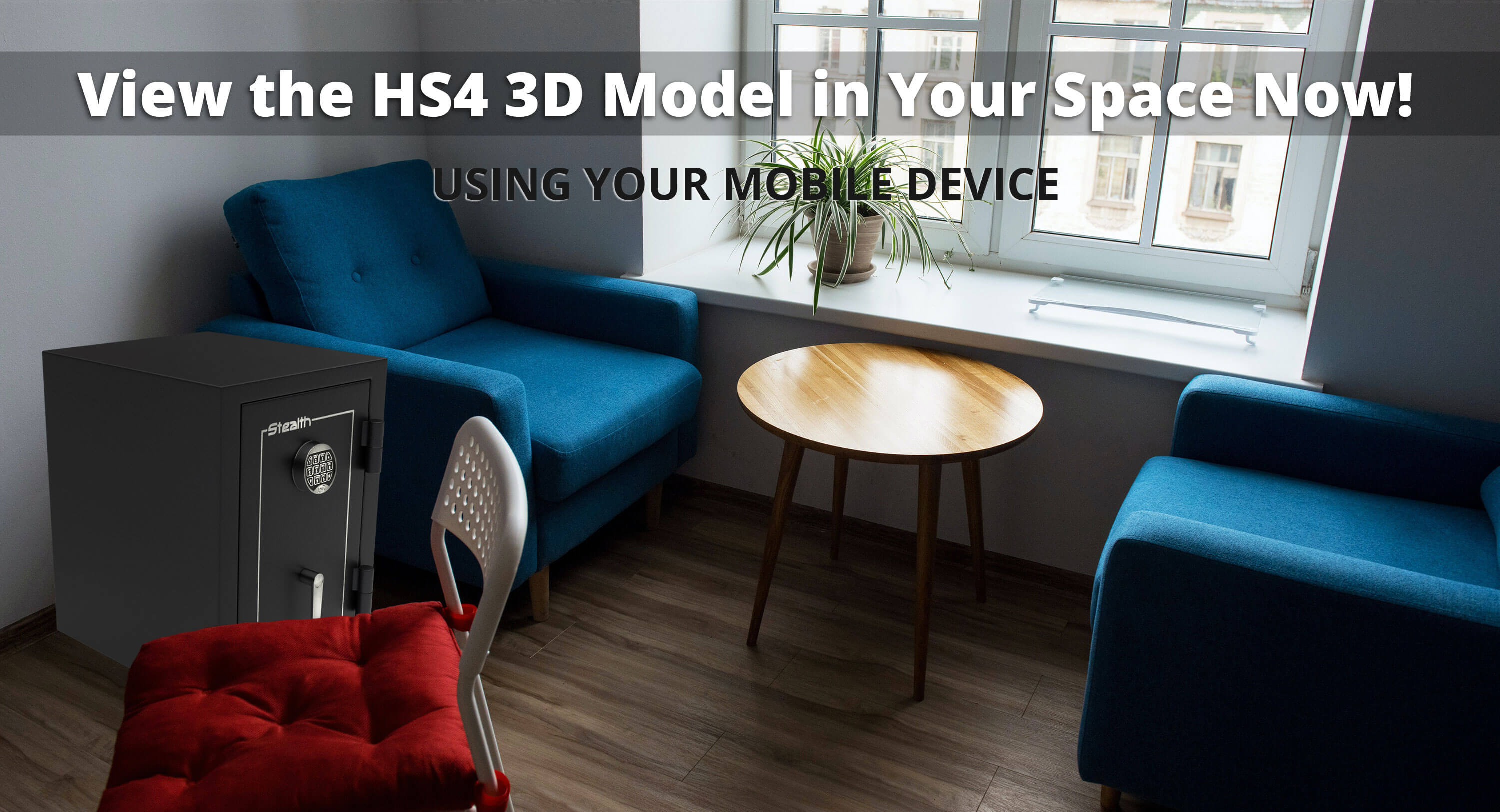 Stealth HS4 UL Home Safe 3D Model and Augmented Reality Experience Available