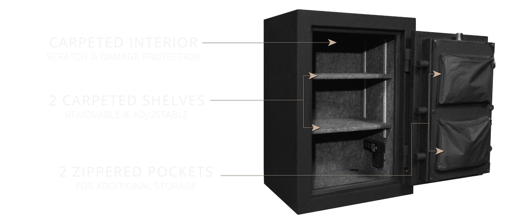 Stealth HS8 UL Home Safe Interior Shelves and Storage