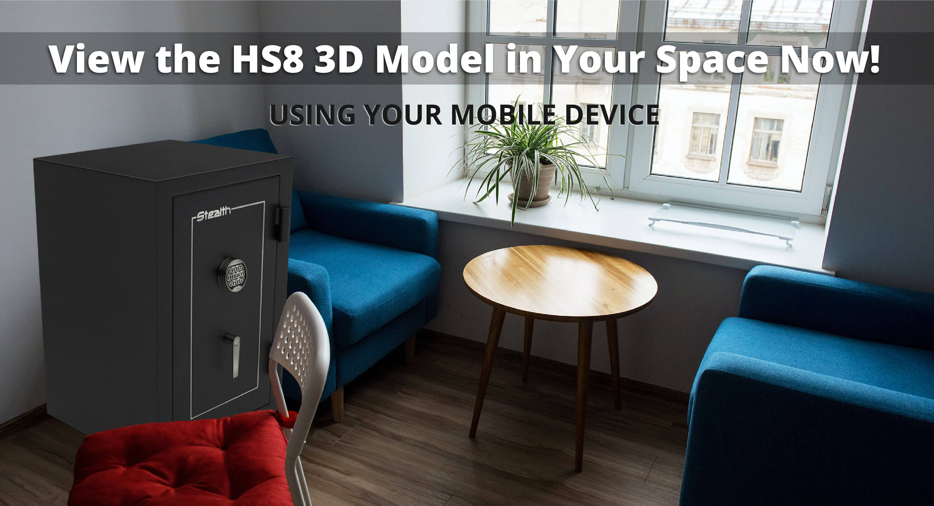 Stealth HS8 UL Home Safe 3D Model and Augmented Reality Experience Available