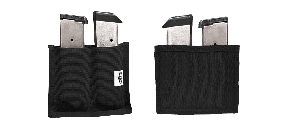 Stealth Double Magazine Pouch with Full Velcro Back