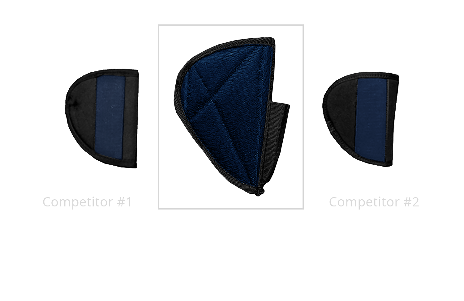 Stealth XL Pistol Holster with Triple the Velcro as Competitors