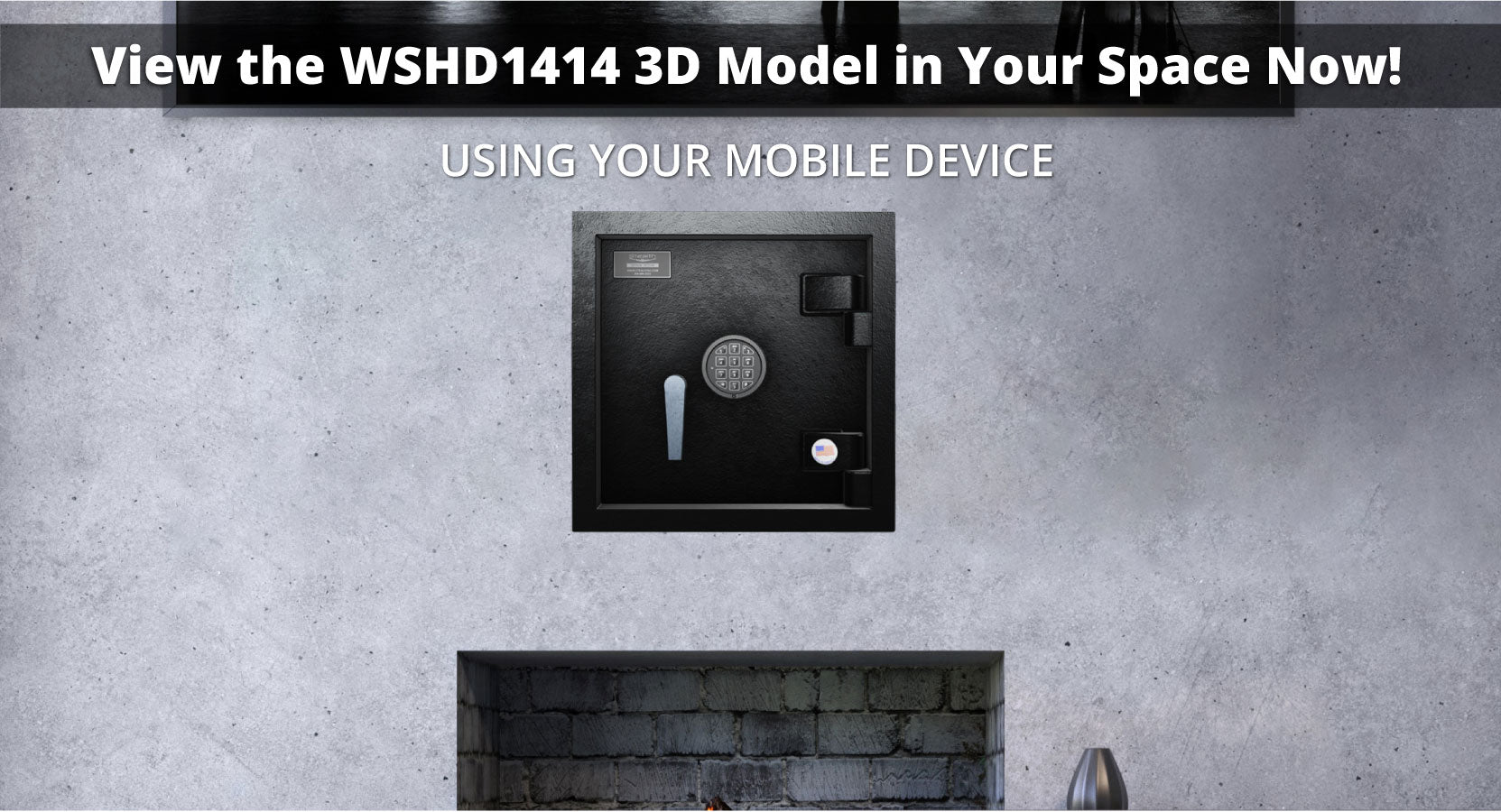 Stealth WSHD1414 Wall Safe 3D Model and Augmented Reality AR Experience Available