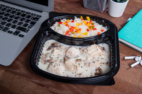 Chicken White Sauce with Mushroom