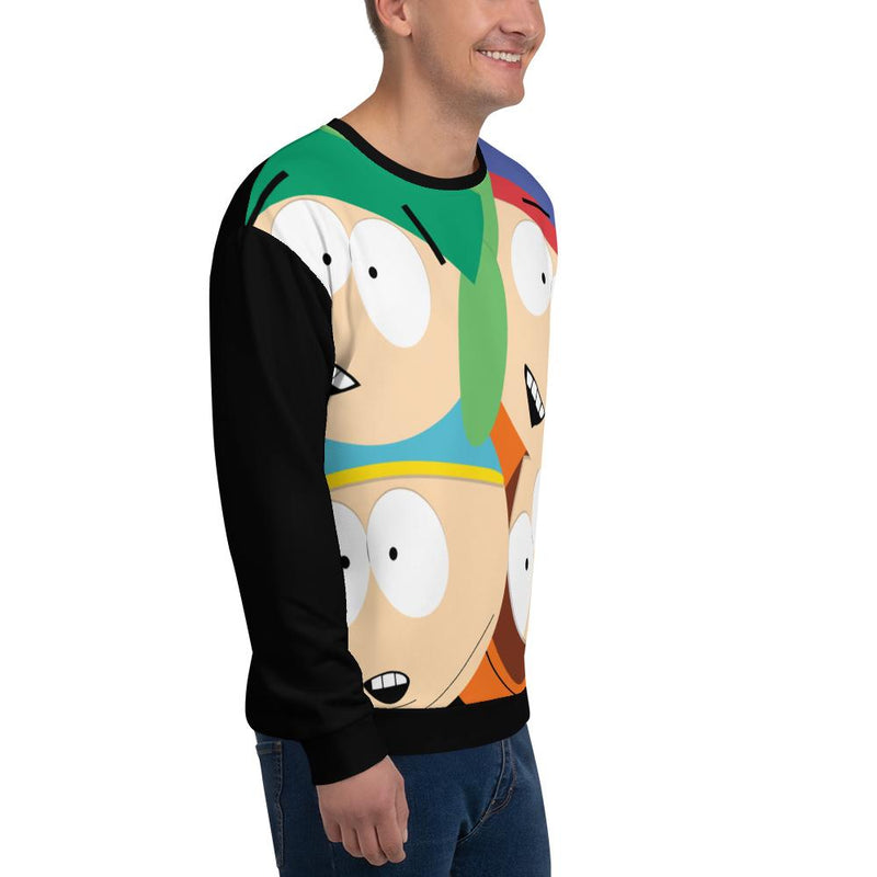 South Park Character Adult All-Over Print Sweatshirt