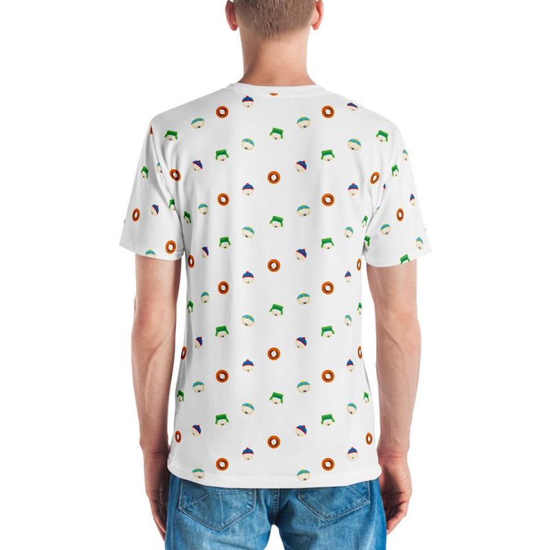 South Park Character Faces Adult All-Over Print T-Shirt