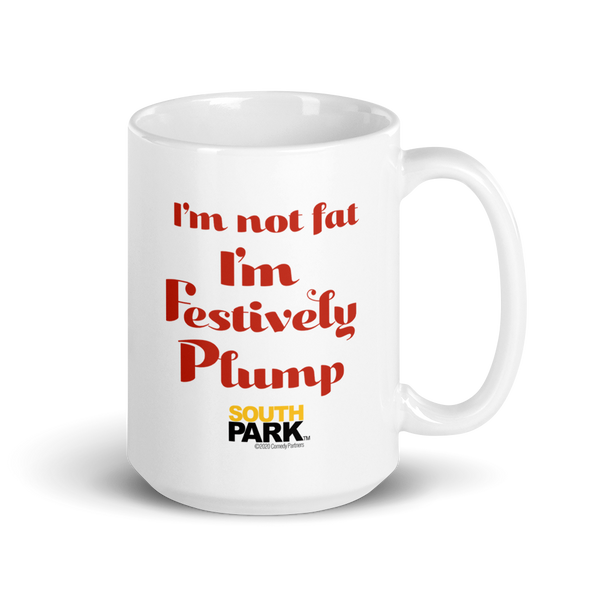 South Park Cartman Festively Plump White Mug